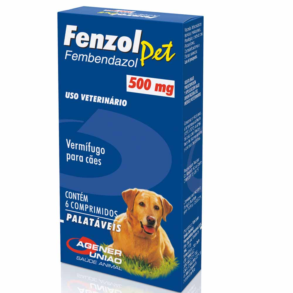 Fenzol Pet com 6 unidades - 500mg