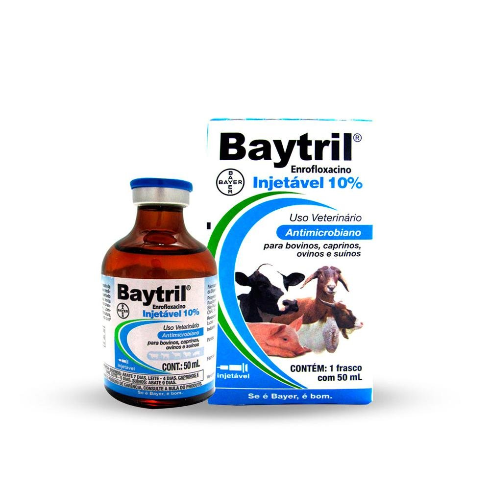 Baytril injetável 10% - 10ml