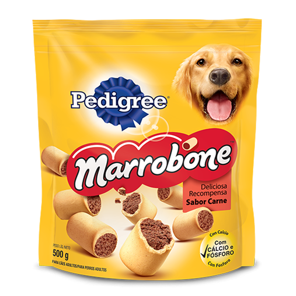 Biscoito Pedigree Biscrok Marrobone
